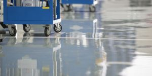 Commercial Epoxy Flooring application in San Angelo Texas